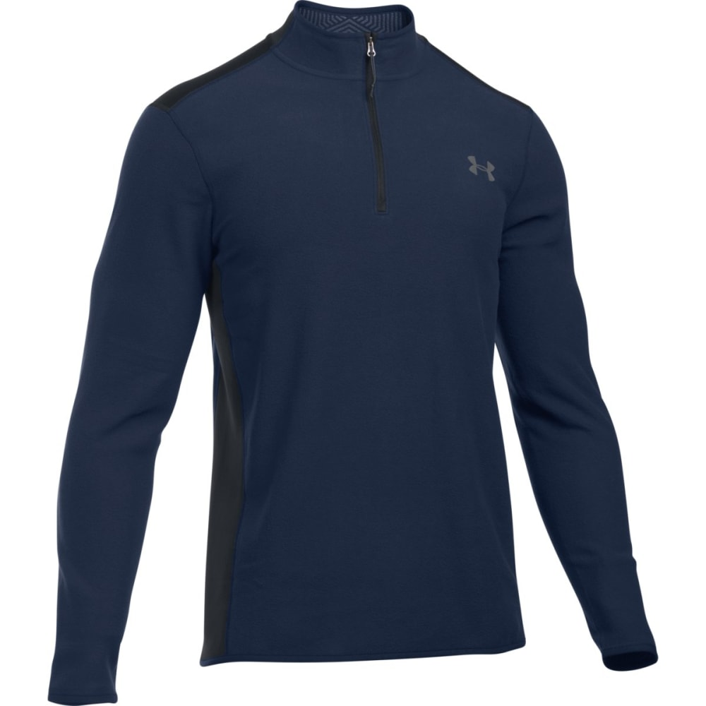 UNDER ARMOUR Men's ColdGear® Infrared Performance Fleece ¼ Zip Jacket - MIDNIGHT/BLACK-410