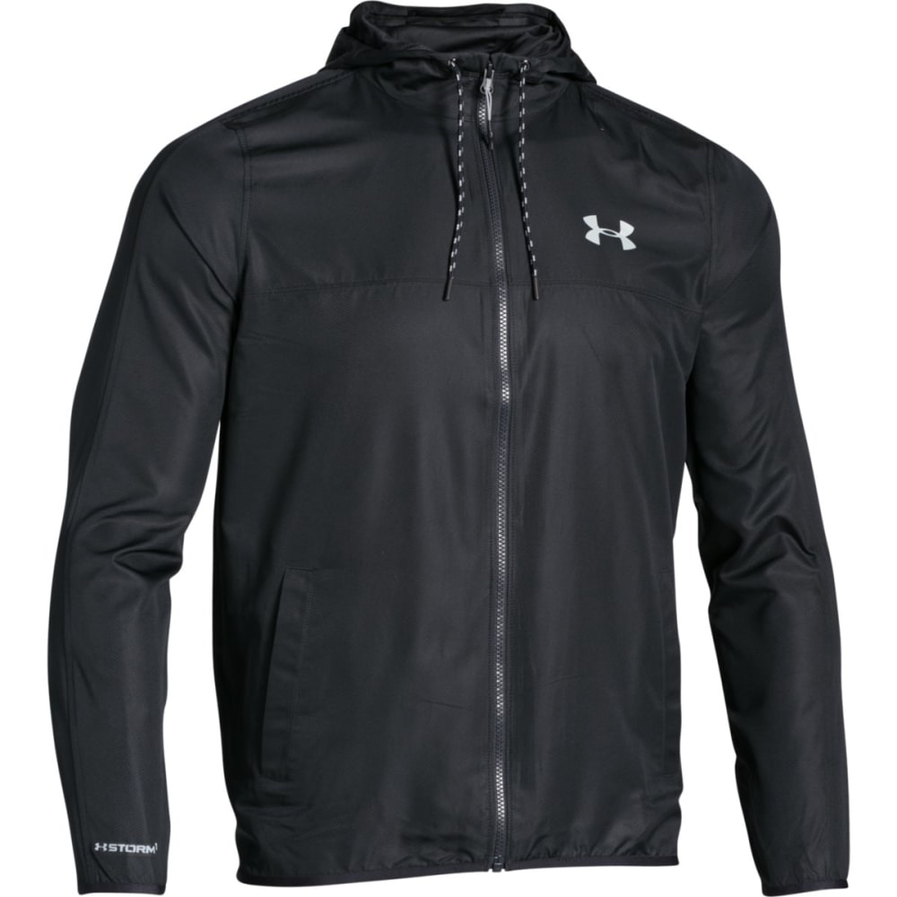 UNDER ARMOUR Men's Sportstyle Windbreaker - BLACK-002