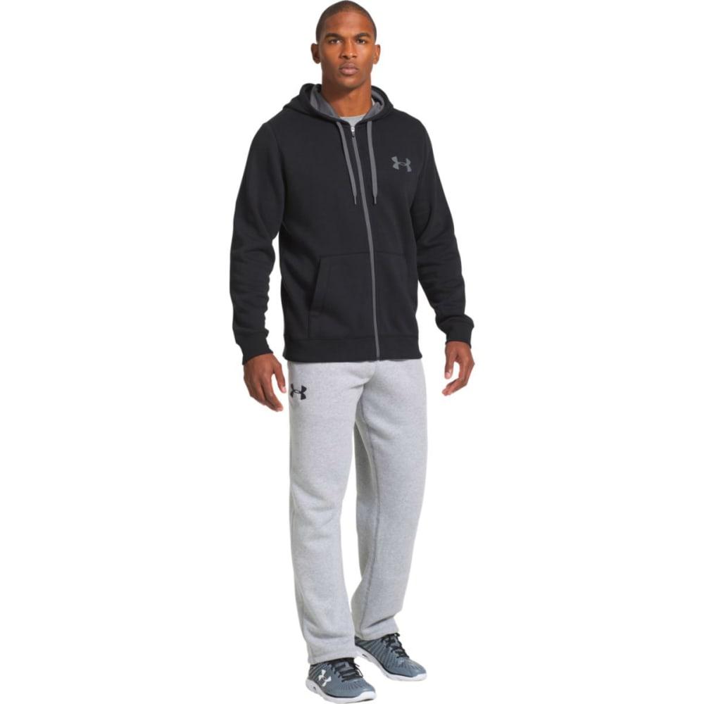 UNDER ARMOUR Men's UA Rival Cotton Full-Zip Hoodie - BLACK-001