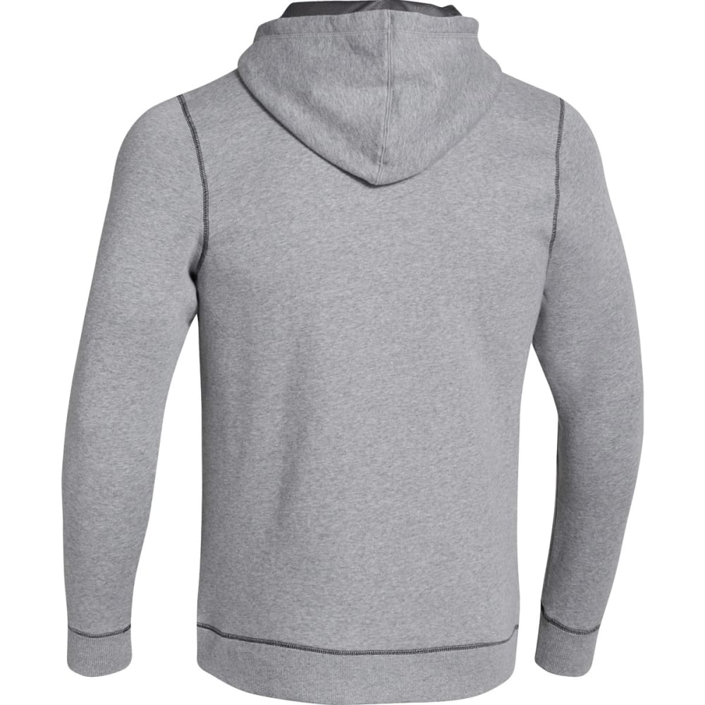 UNDER ARMOUR Men's UA Rival Cotton Full-Zip Hoodie - GREY HEATHER-025