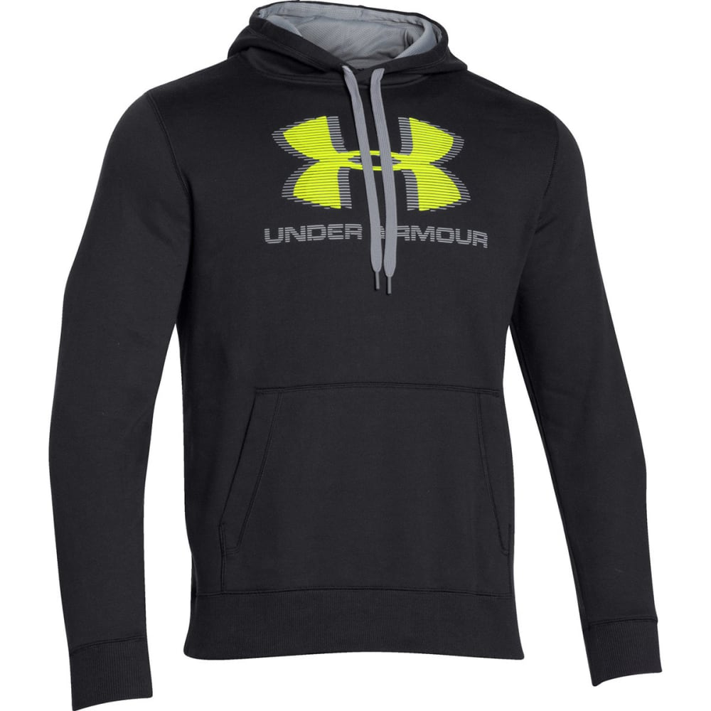 UNDER ARMOUR Men's Sportstyle Cotton Hoodie - BLACK/STEEL-001