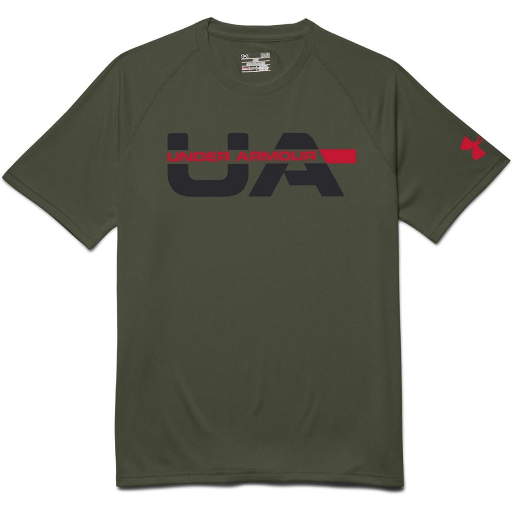 UNDER ARMOUR Men's Wordmark Strikethrough T-Shirt - ROUGH