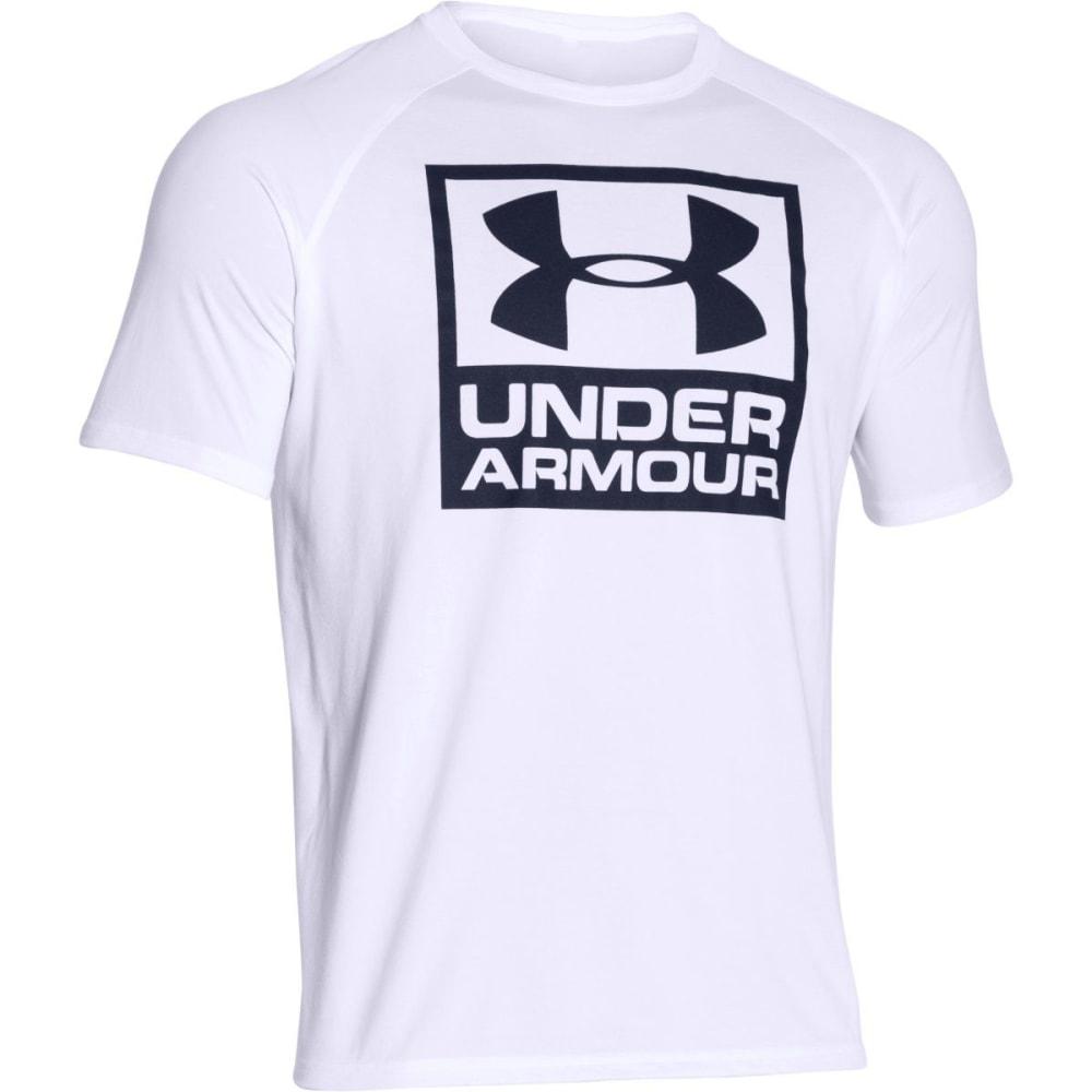 UNDER ARMOUR Men's UA Tech™ Boxed Logo T-Shirt - WHITE/MIDNIGHT-100