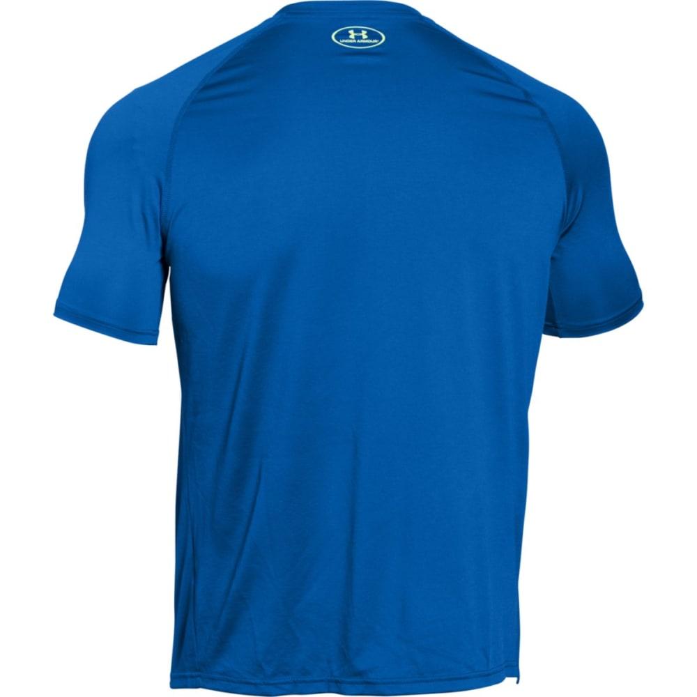 UNDER ARMOUR Men's Short-Sleeve Wordmark Tech Tee - ULTRA BLUE-907