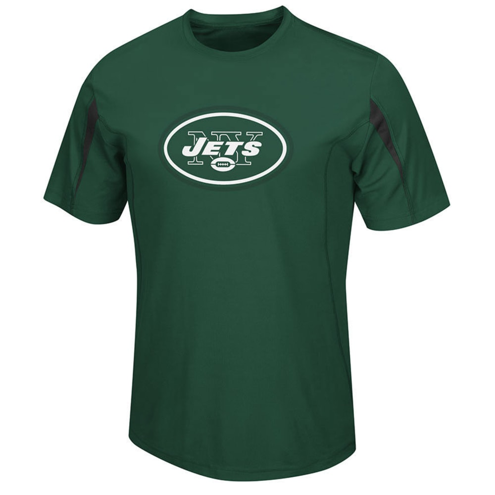 NEW YORK JETS Men's Fanfare Synthetic Tee - DARK GREEN