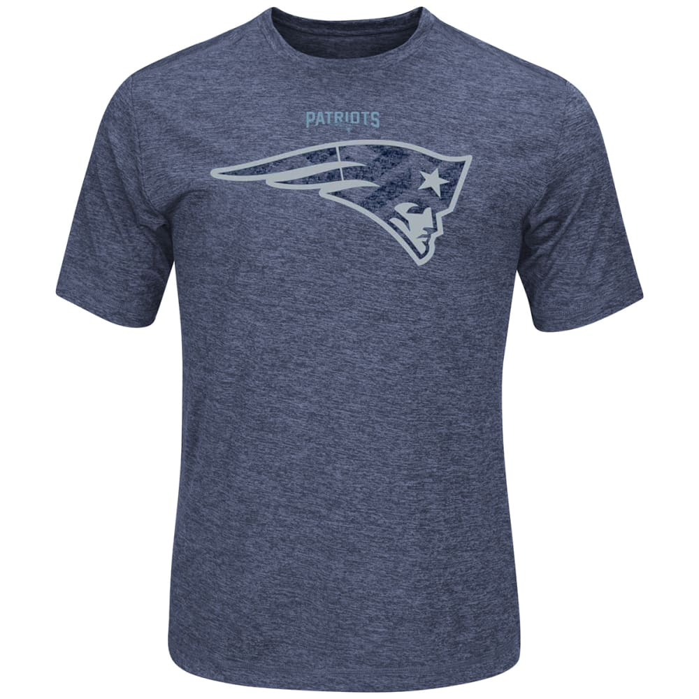 NEW ENGLAND PATRIOTS Men's Breakaway Speed Cool Base® Synthetic Short Sleeve Tee Shirt - WHITE/OXFORD GREY