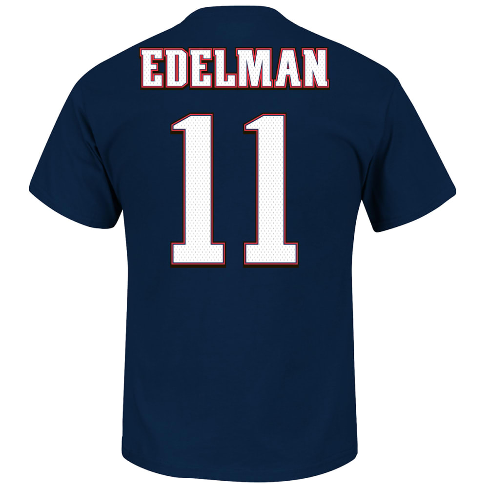 NEW ENGLAND PATRIOTS Men's Edelman #11 Crew Neck Tee Shirt - NAVY
