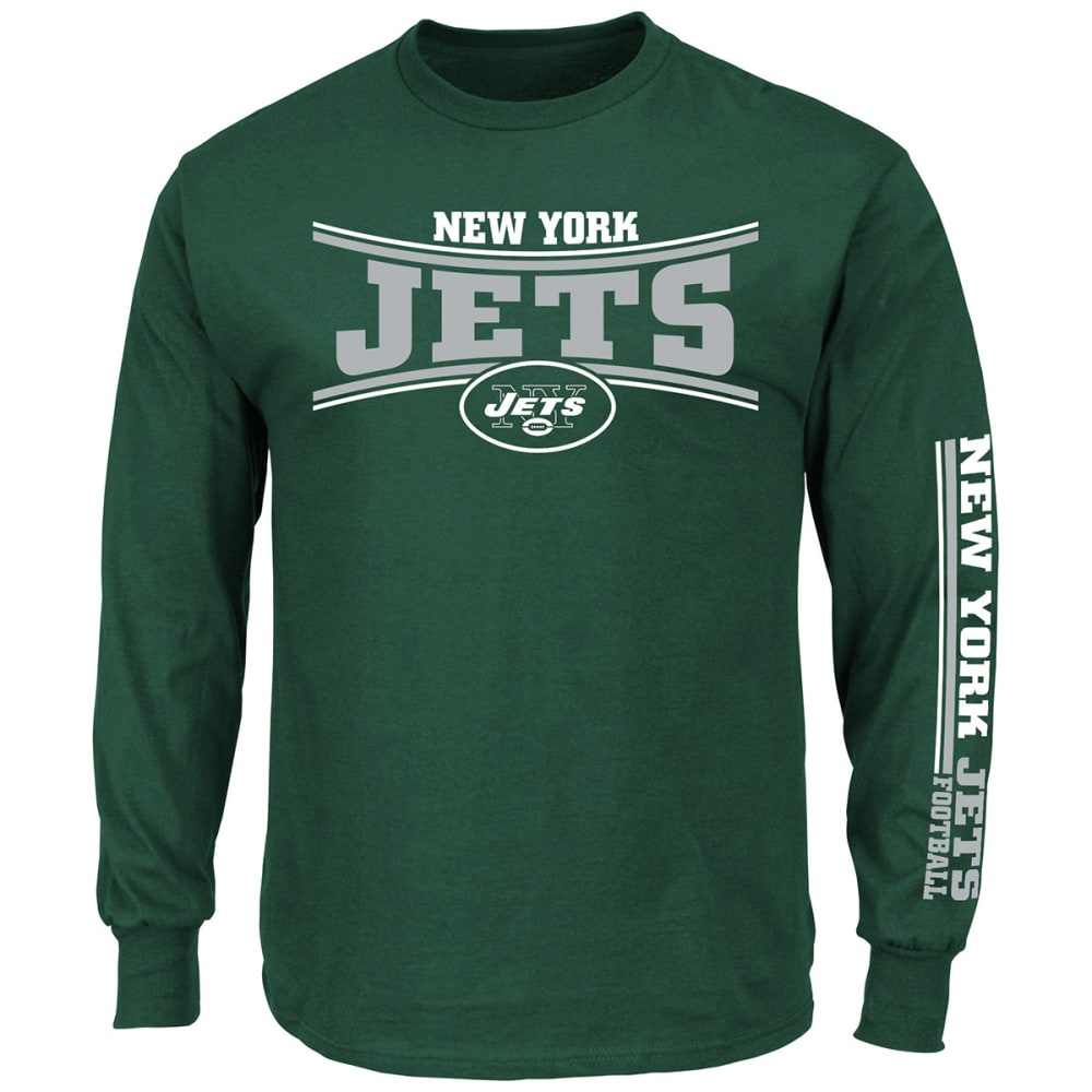 NEW YORK JETS Men's Primary Receiver Long-Sleeve Tee - DARK GREEN