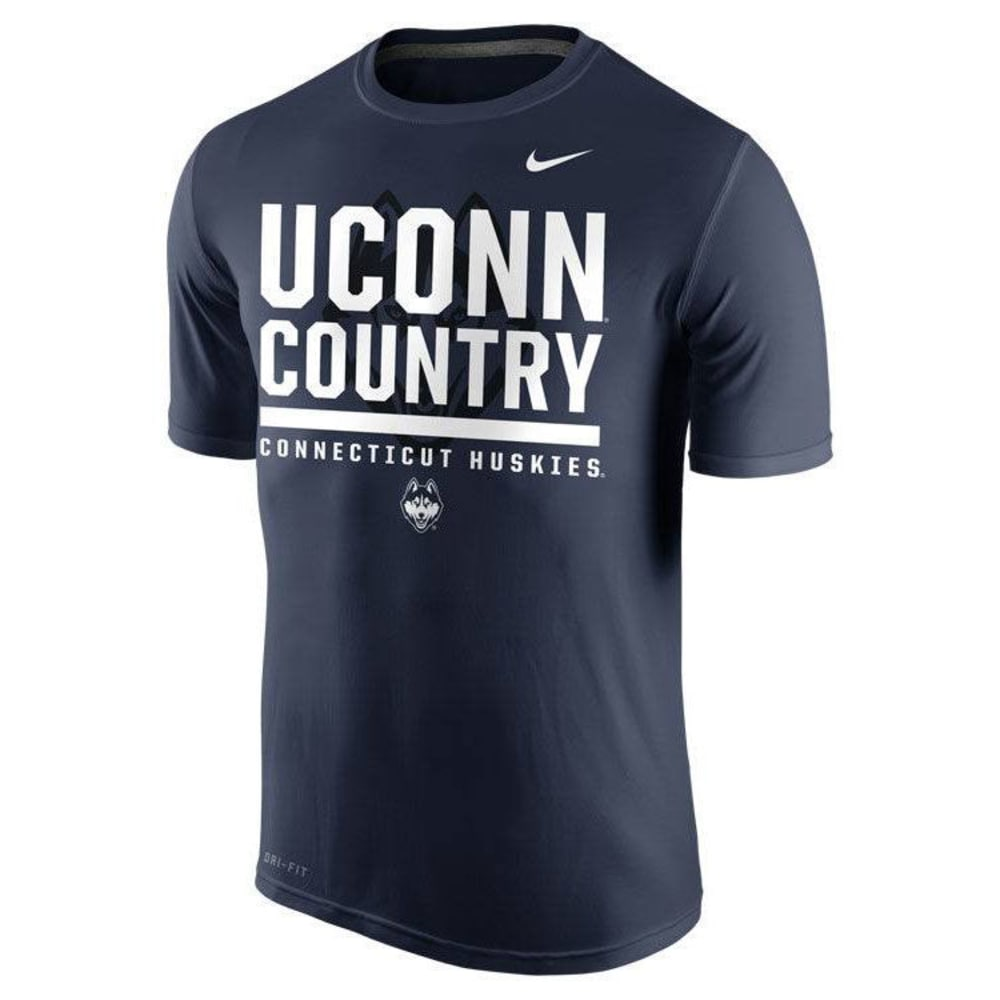 UCONN HUSKIES Men's Nike College Legend Tee - NAVY