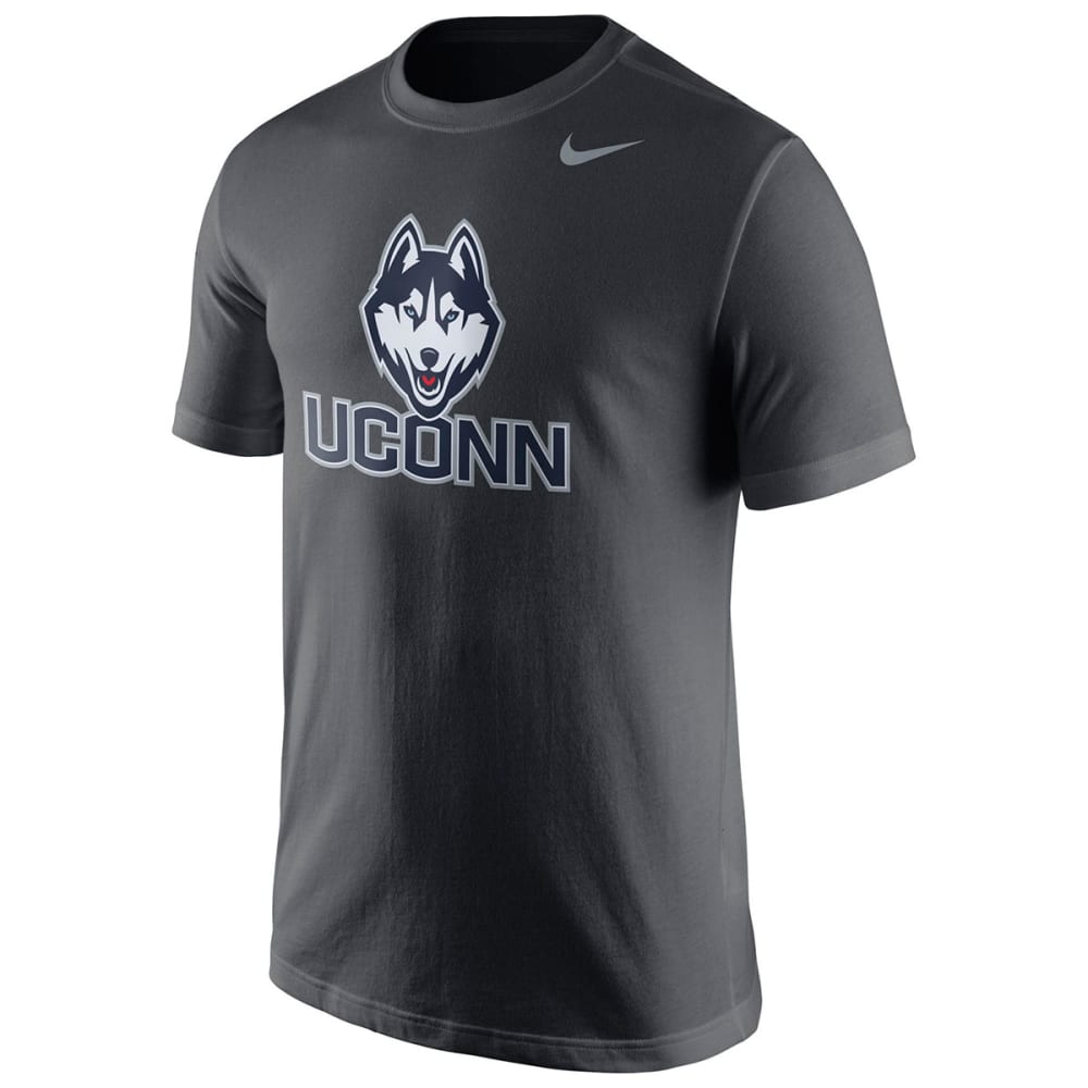 UCONN HUSKIES Men's Short Sleeve Logo Tee Shirt - GREY