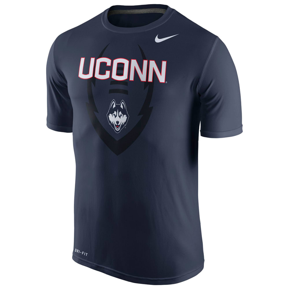 UCONN HUSKIES Men's Nike College Legend Football Icon Tee - NAVY