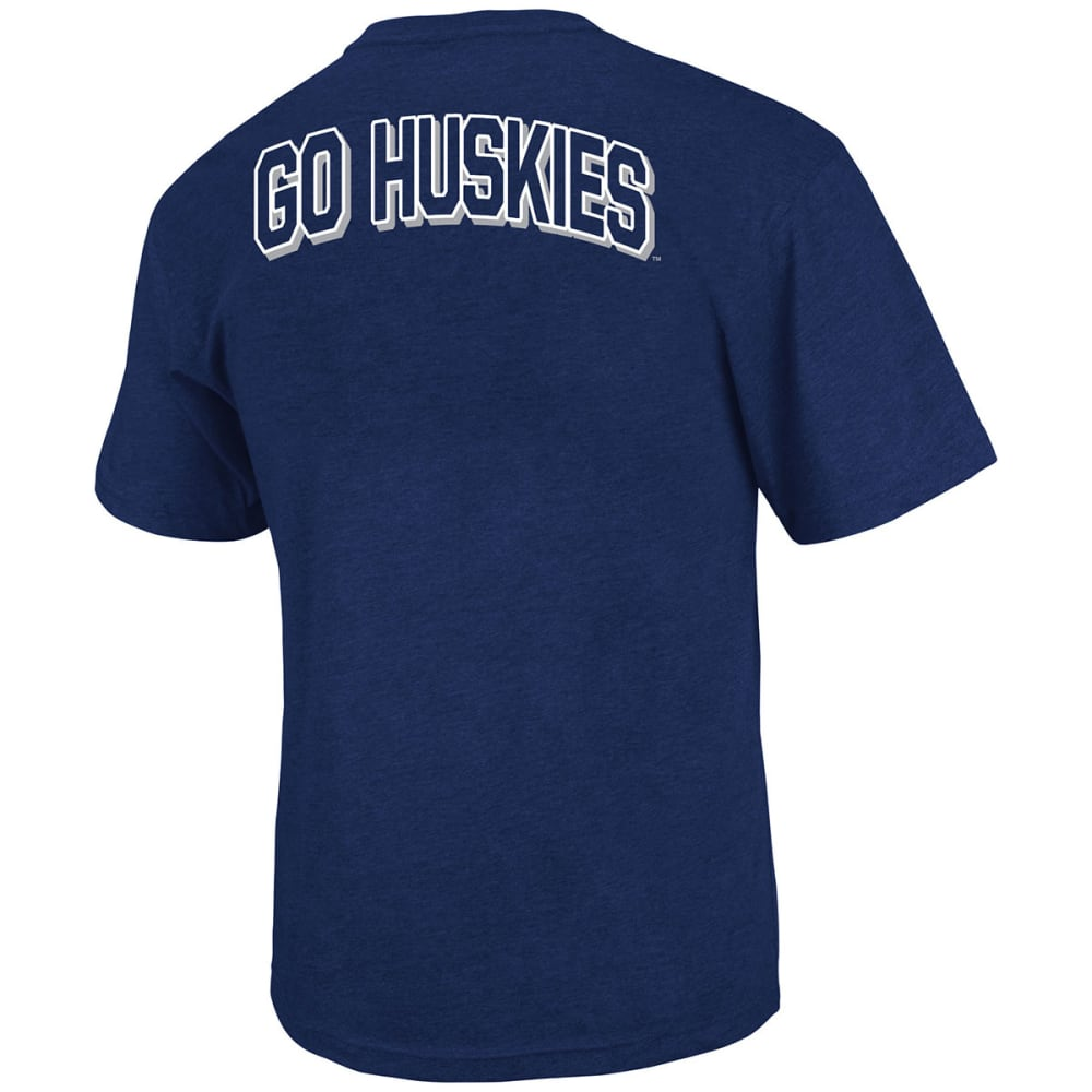 UCONN HUSKIES Men' Fade Out Short-Sleeve Tee - NAVY