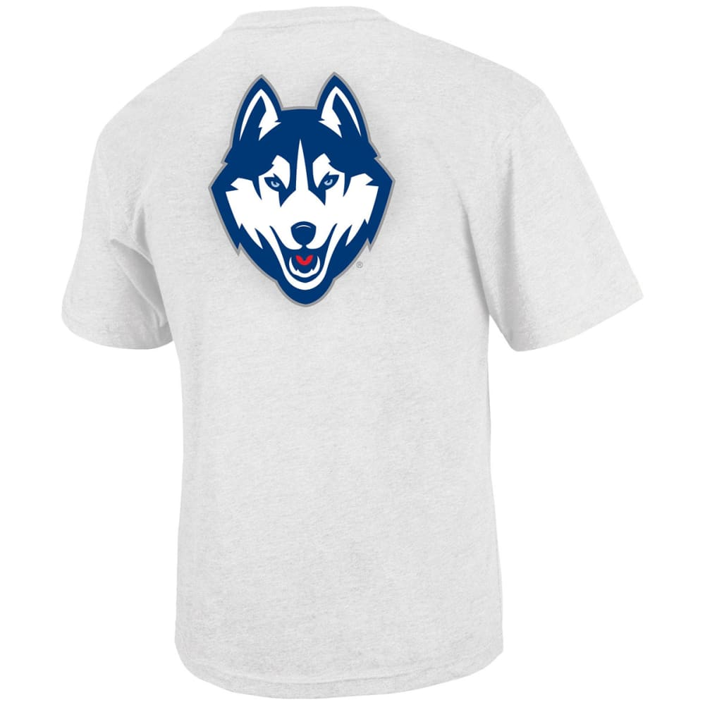 UCONN HUSKIES Men's Fade In Two-Sided T-Shirt - WHITE