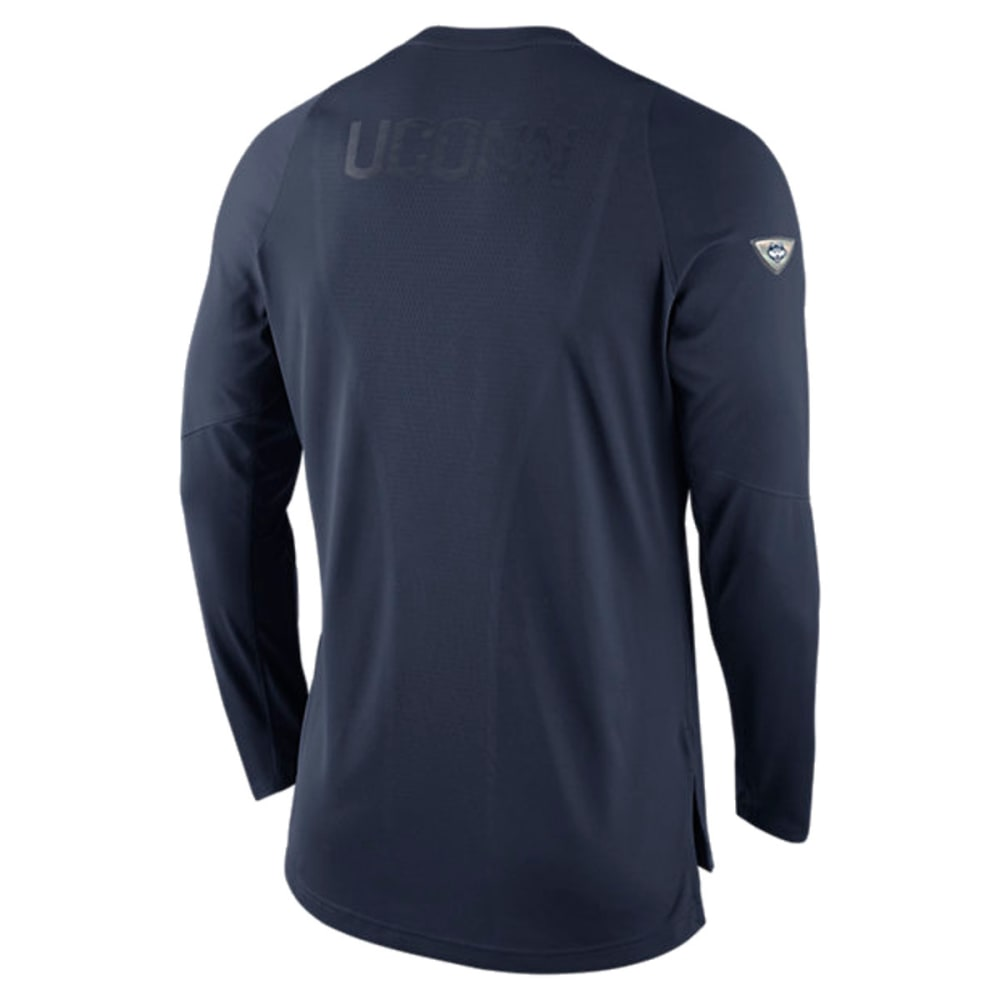 NIKE Men's UConn Elite Shootaround Long-Sleeve Tee - UCONN NAVY