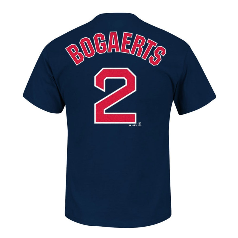 BOSTON RED SOX Men's Bogaerts #2 Name and Number Tee  - NAVY