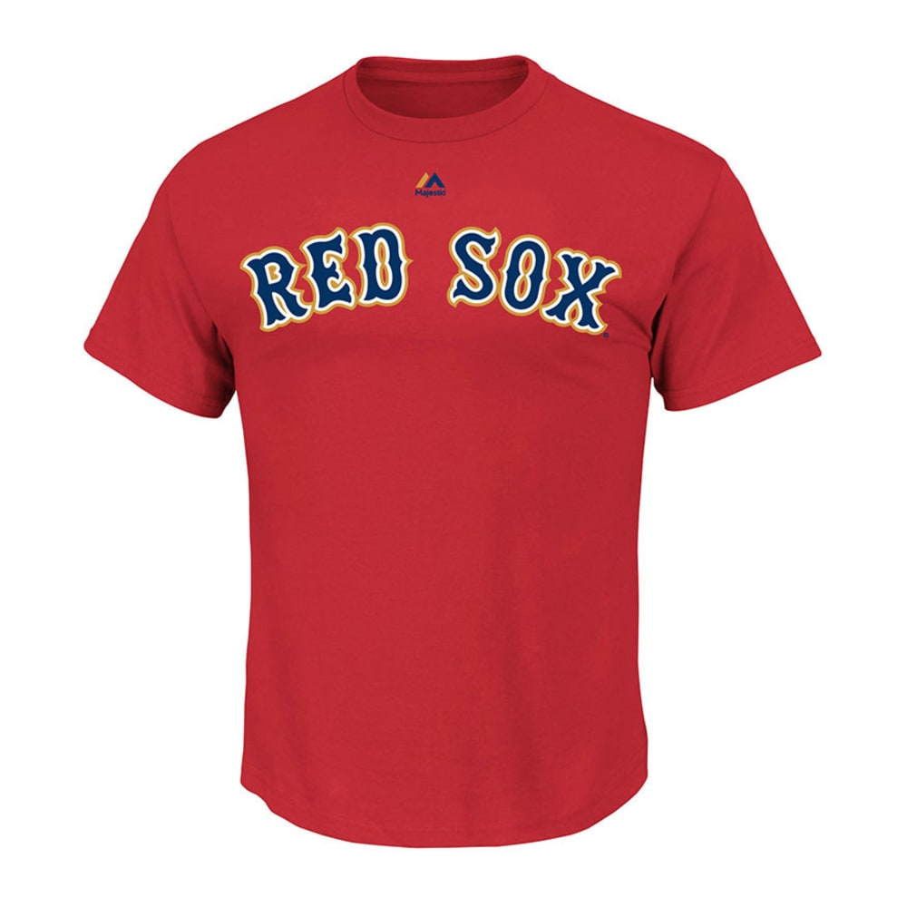 BOSTON RED SOX Men's Gold Wordmark Tee  - RED