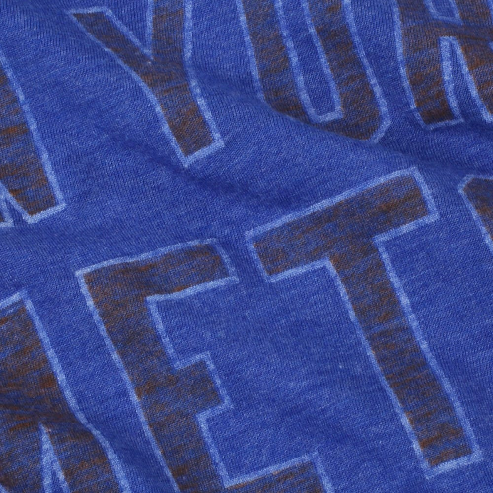 NIKE Men's New York Mets Tri-Blend DNA Sleeve Logo Short-Sleeve Tee - ROYAL