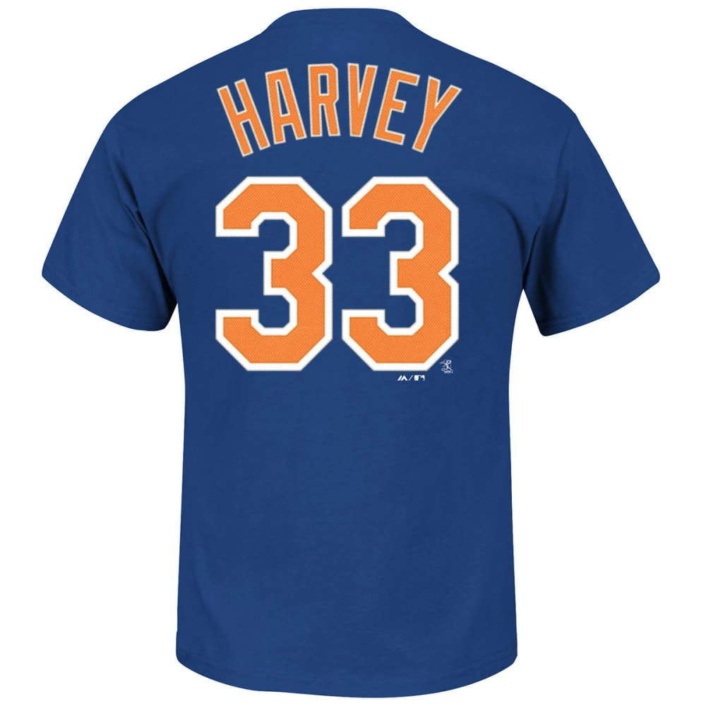 NEW YORK Mets Men's Matt Harvey #33 Tee - ROYAL BLUE