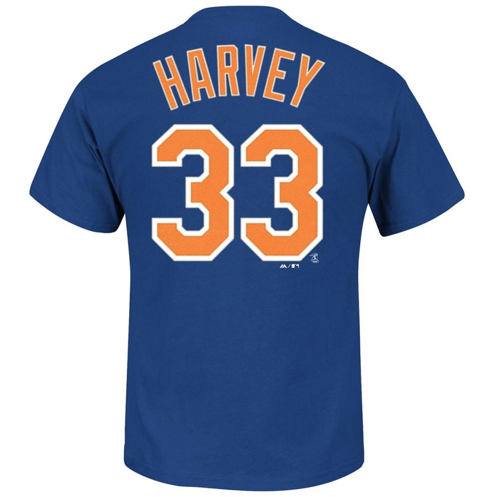 NEW YORK Mets Men's Matt Harvey #33 Tee - ROYAL BLUE