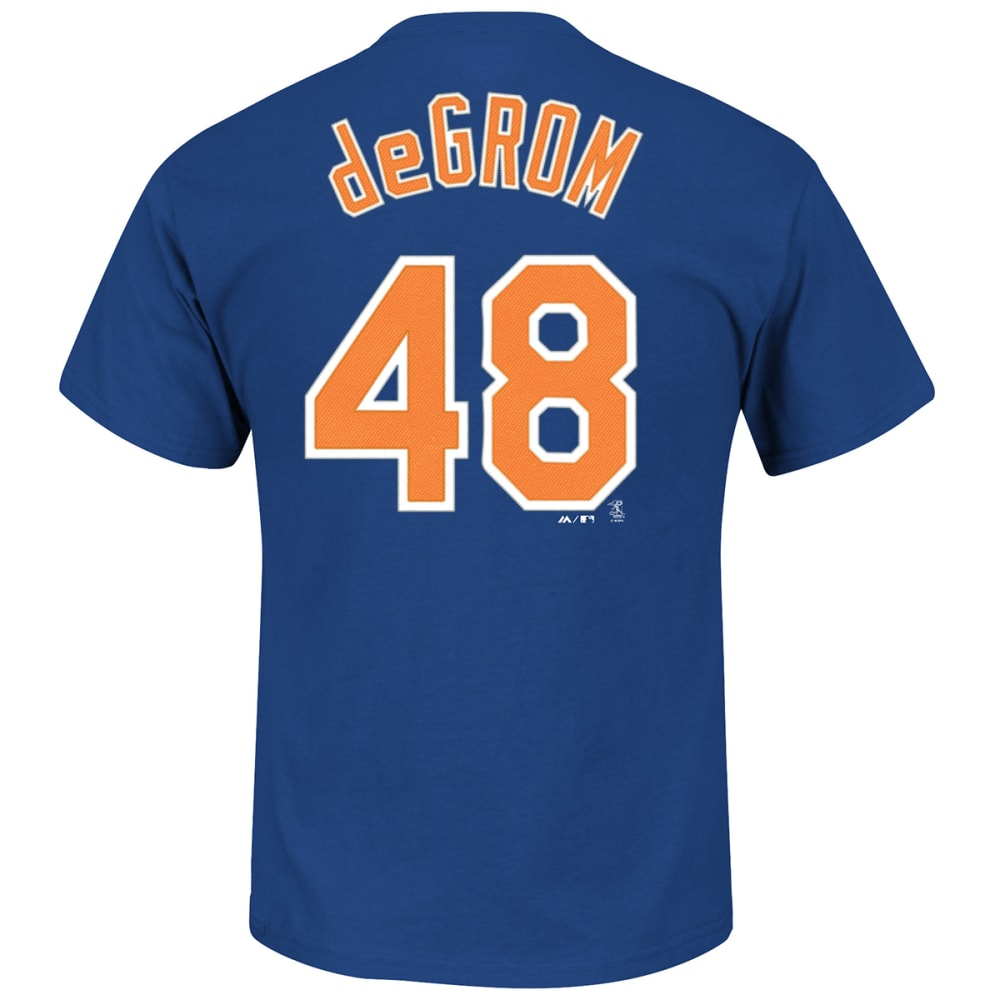 NEW YORK METS Men's Jacob deGrom #48 Name & Number Tee S