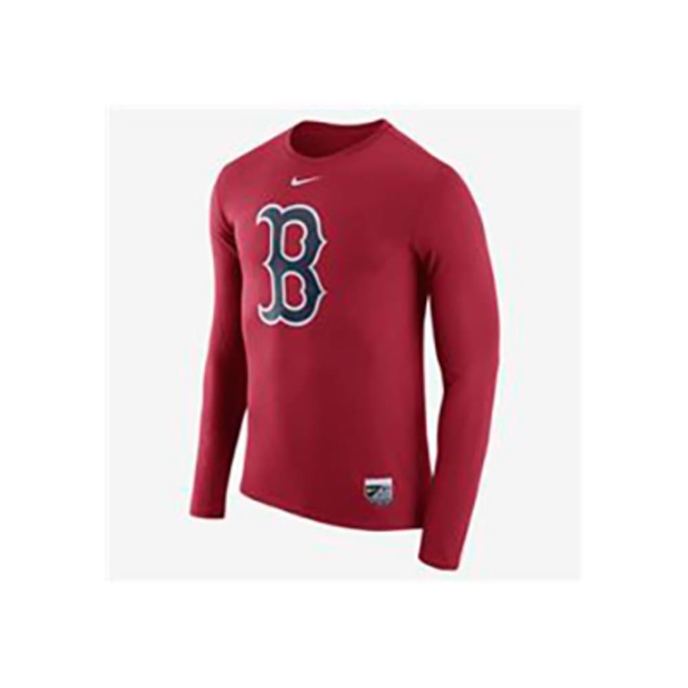 BOSTON RED SOX Men's Dri Blend Legend Long-Sleeve Tee - RED