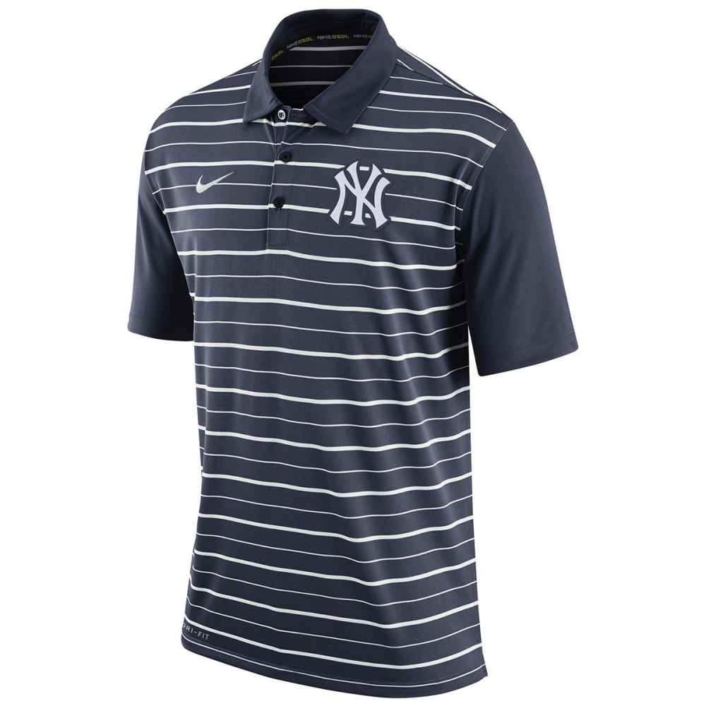 NEW YORK YANKEES Men's Dri-Fit Striped Polo - YANKEES