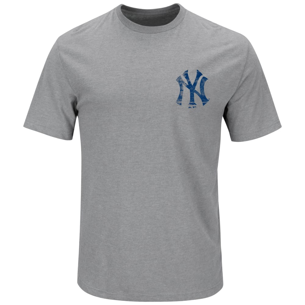 NEW YORK YANKEES Men's Not Without Struggle 2-Sided Tee - GREY