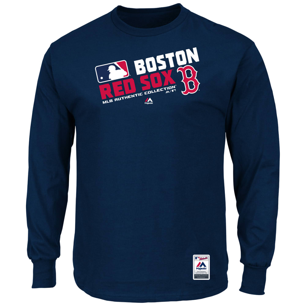 BOSTON RED SOX Men's Authentic Collection Long Sleeve Tee - NAVY