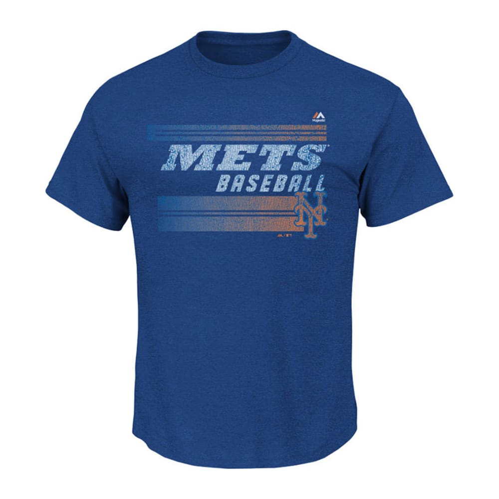 NEW YORK METS Men's Turning the Tables Tee - ROYAL HEATHER