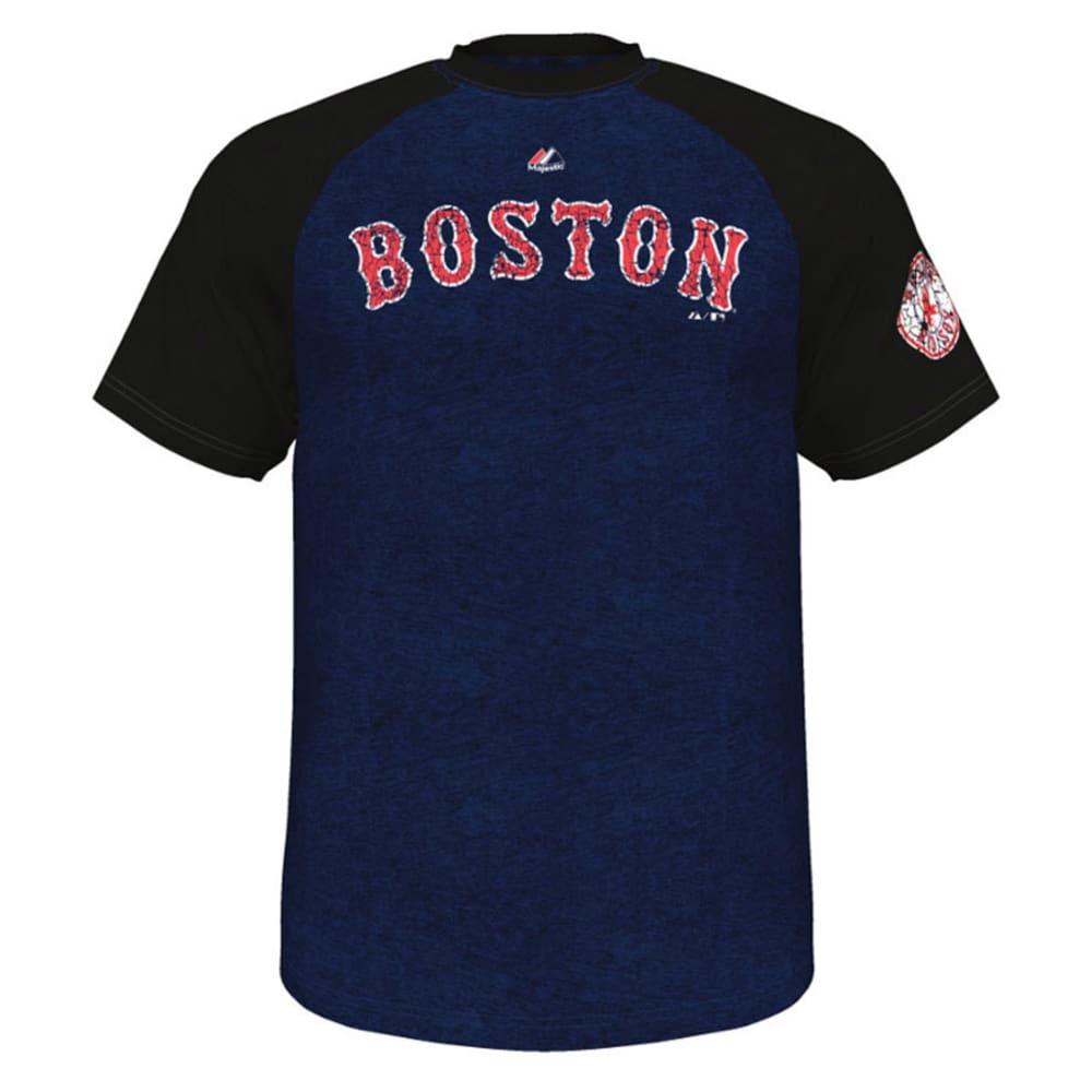 BOSTON RED SOX Men's Club Favorite Raglan Tee - NAVY