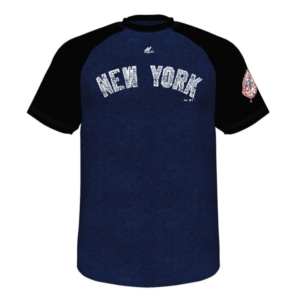 NEW YORK YANKEES Men's Club Favorite Raglan Tee - NAVY