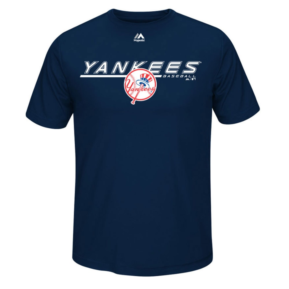NEW YORK YANKEES Men's Aggressive Feel Tee  - NAVY