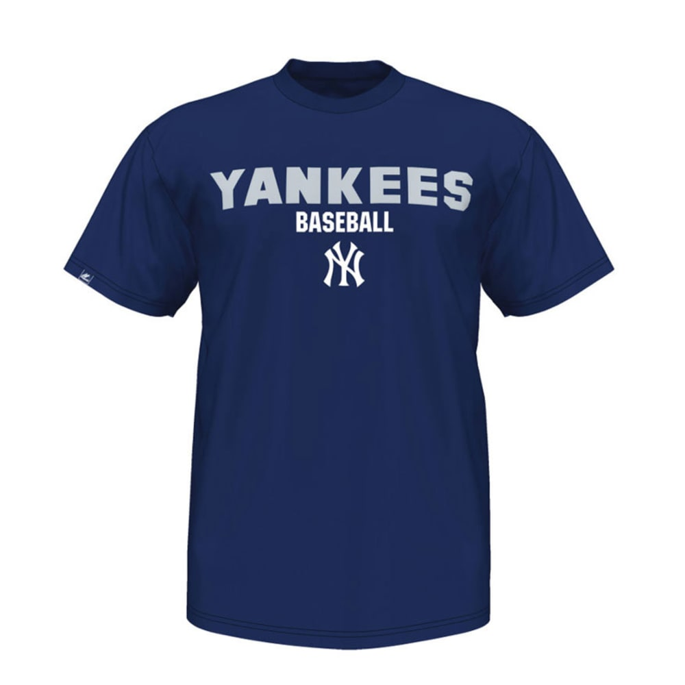 NEW YORK YANKEES Men's The Fan Embroidered Tee - NAVY