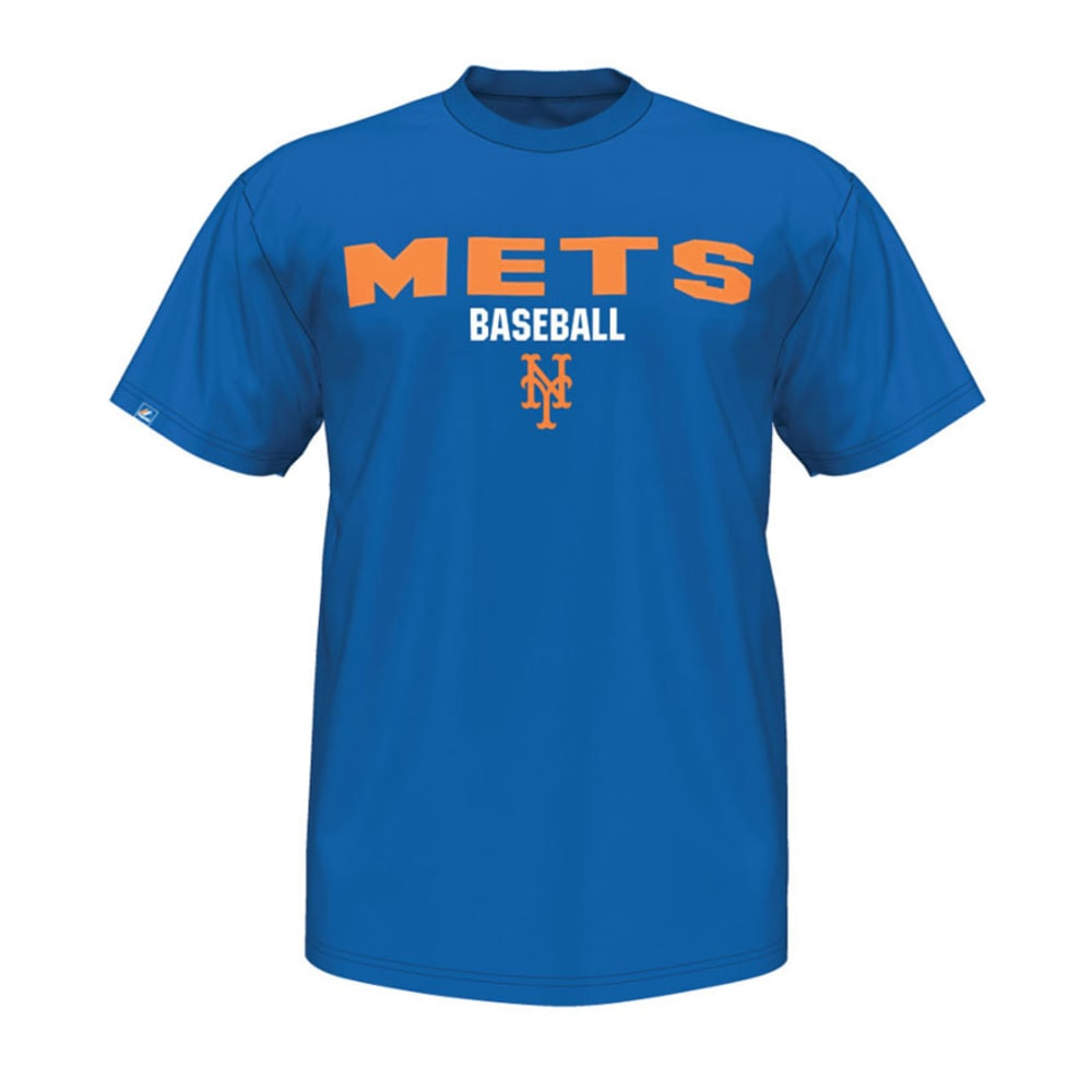 NEW YORK METS Men's The Fan Embroidered Tee - DEEP ROYAL