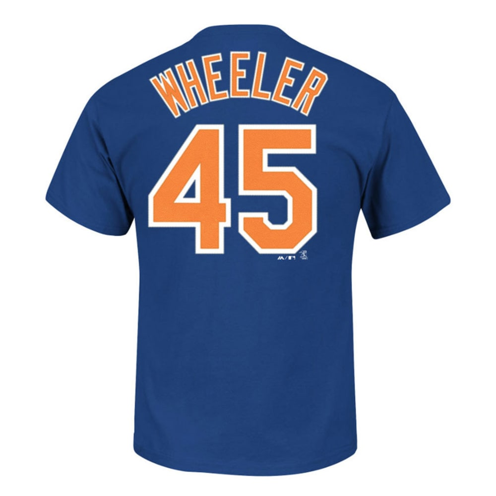 NEW YORK METS Men's Wheeler #45 Name and Number Tee  - NAVY