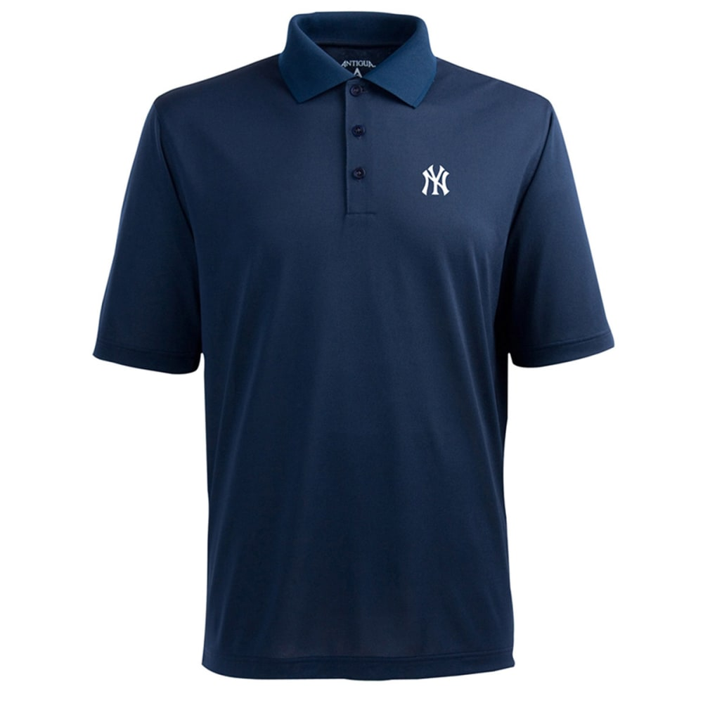 ANTIGUA Men's New York Yankees Pique Xtra-Lite Polo - NINE IRON