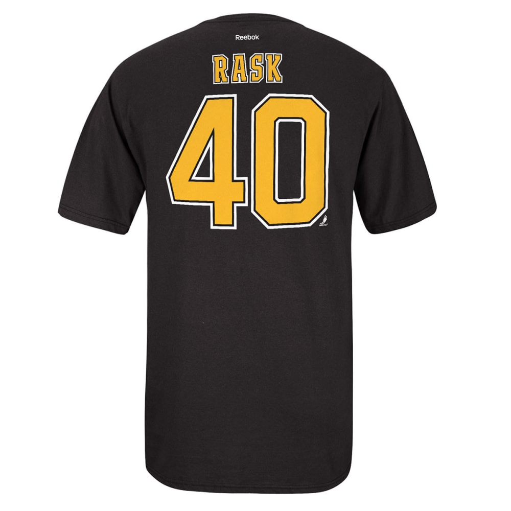 REEBOK Men's Tuukka Rask #40 Boston Bruins Tee - BLACK