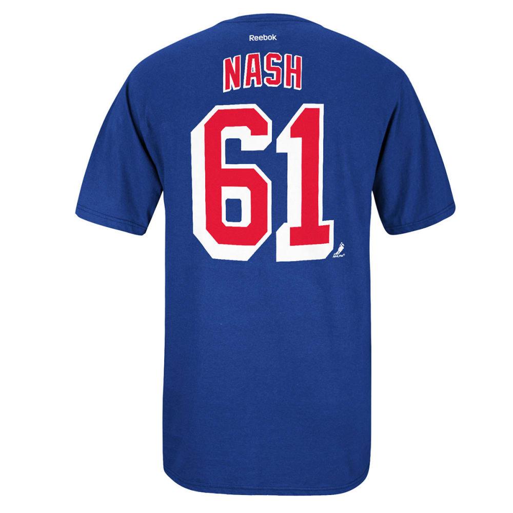 REEBOK Men's Rick Nash #61 New York Rangers Tee - ROYAL BLUE