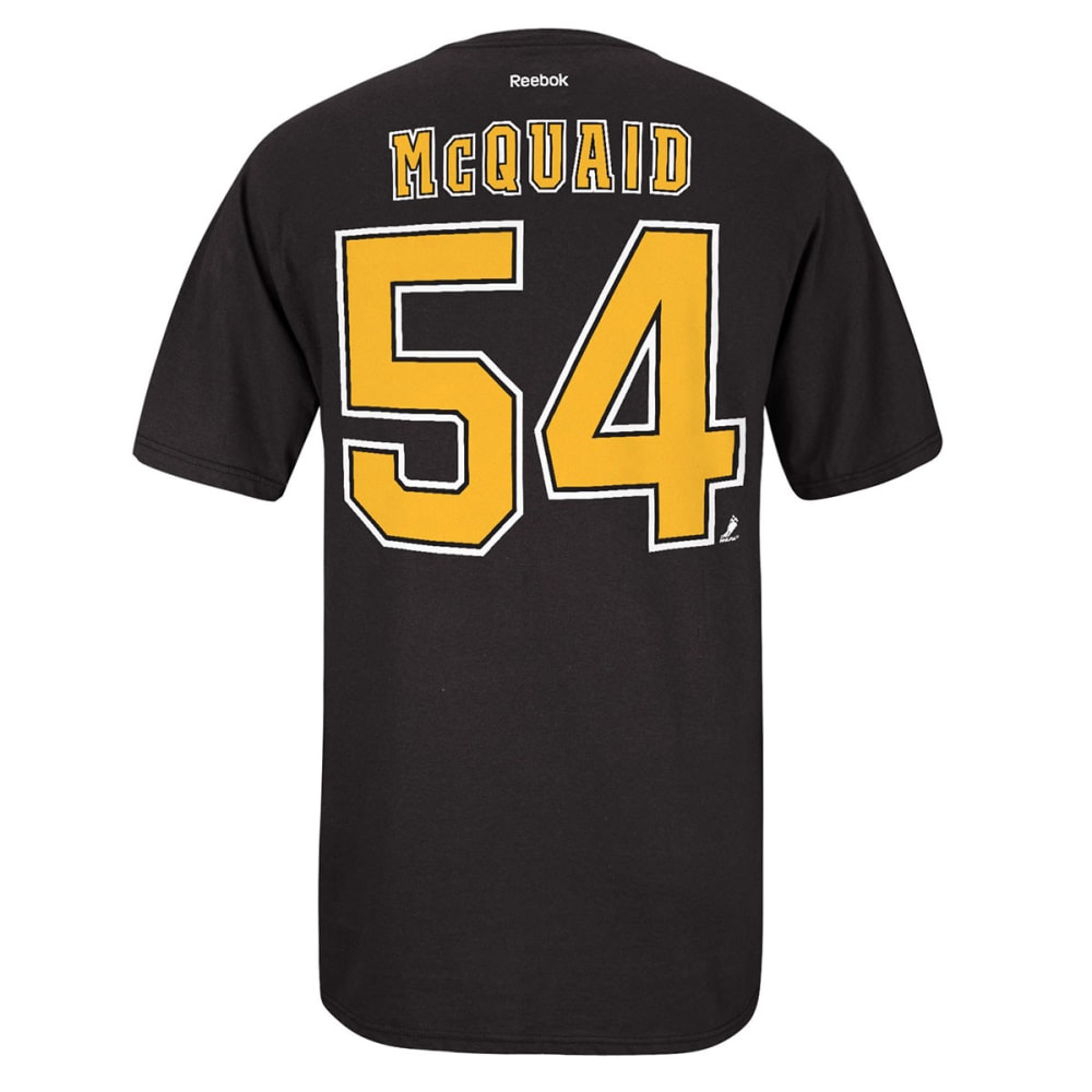 REEBOK Men's Adam McQuiad #54 Boston Bruins Tee - BLACK