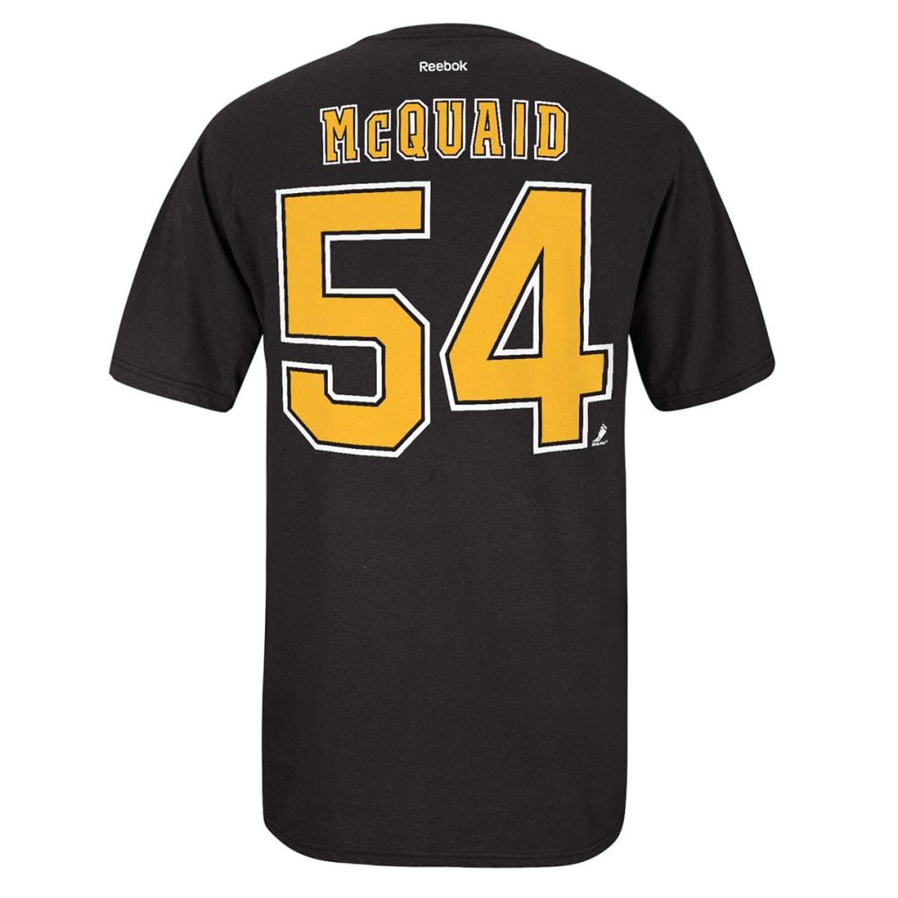 REEBOK Men's Adam McQuiad #54 Boston Bruins Tee - BLACK
