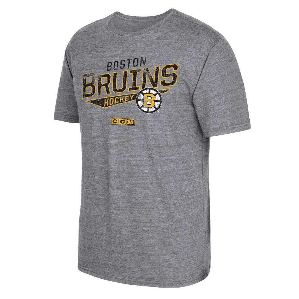 BOSTON BRUINS Men's Bigger Logo Short-Sleeve Tee - GREY