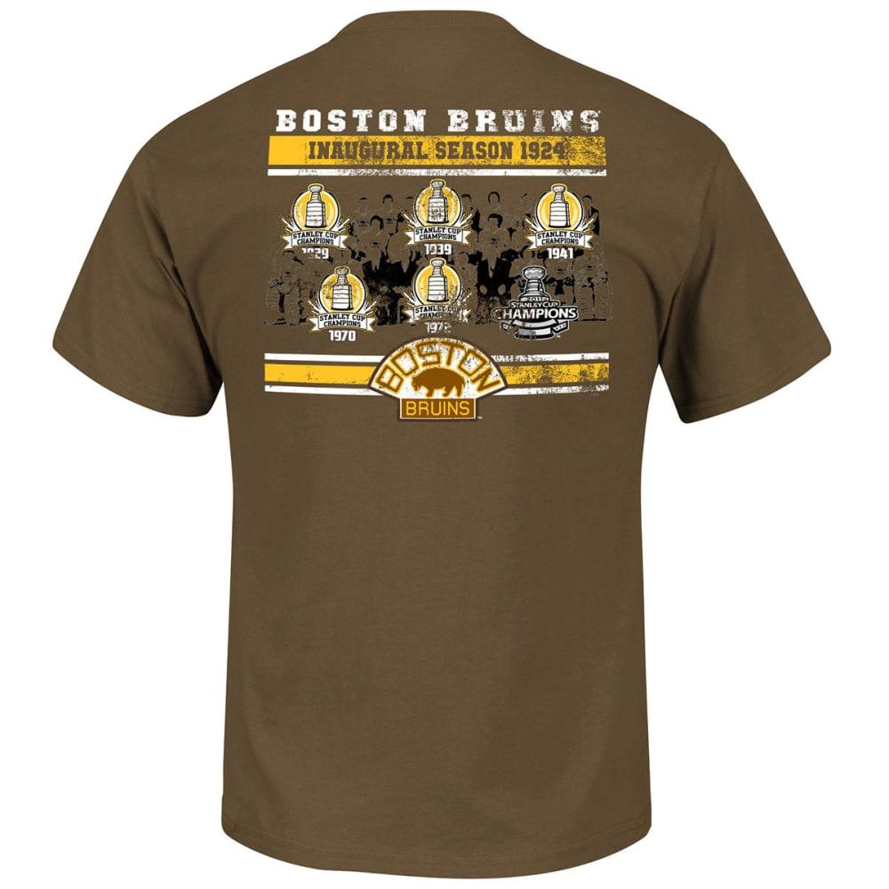 BOSTON BRUINS Men's Vintage Amazing Greats History Tee - BROWN