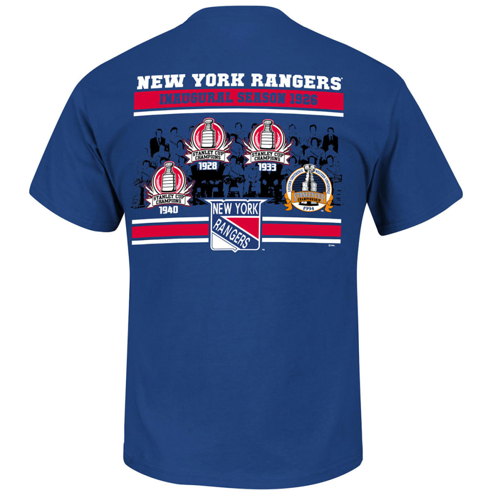 NEW YORK RANGERS Men's Vintage Amazing Greats History Tee - ROYAL BLUE