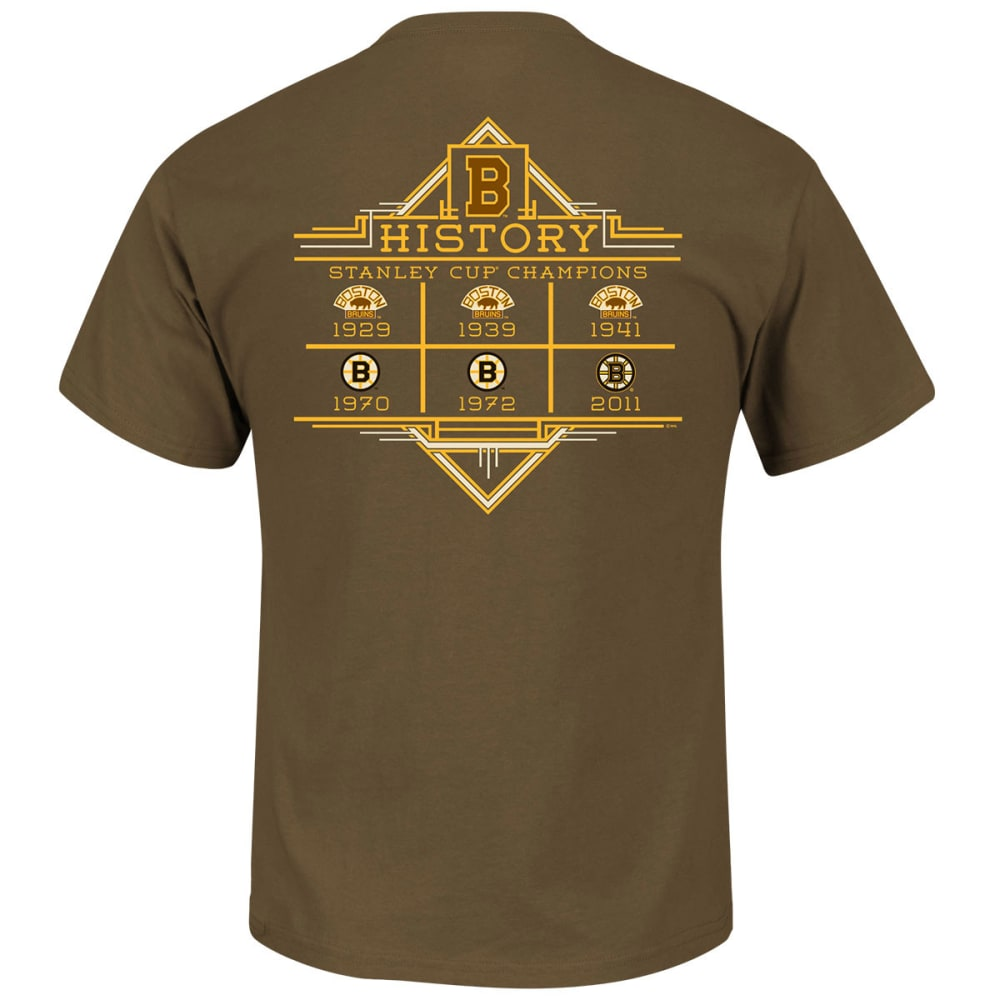 BOSTON BRUINS Men's Vintage Expansion Draft History Tee - BROWN