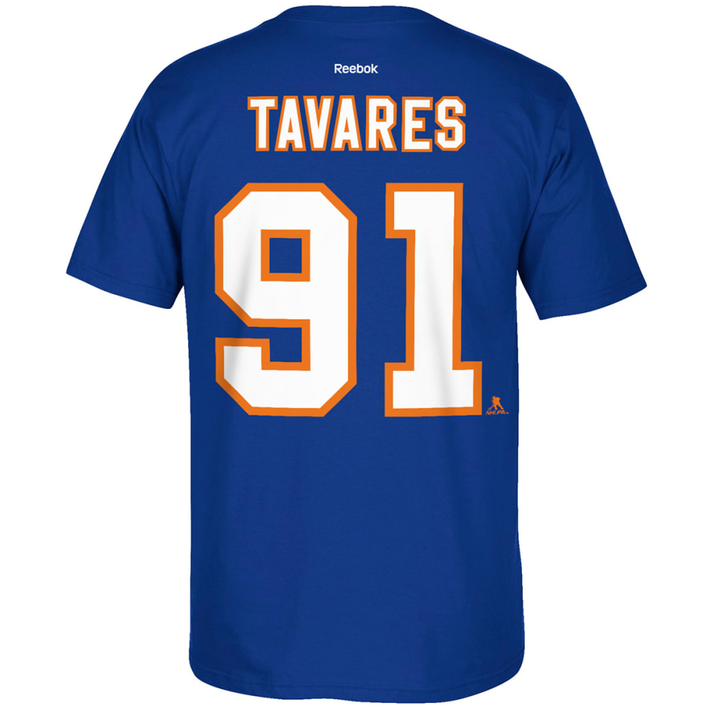 REEBOK Men's New York Islanders John Tavares #91 Short-Sleeve Tee - ROYAL BLUE