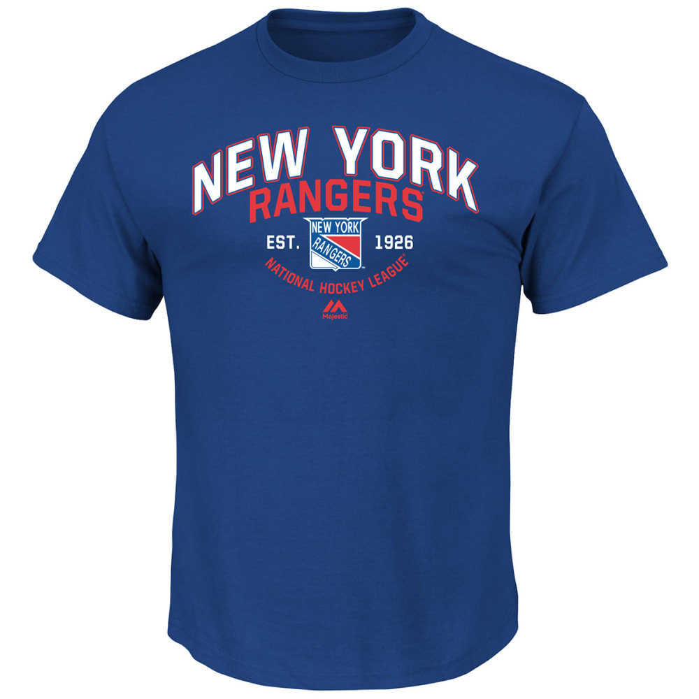 NEW YORK RANGERS Men's Jersey History Tee - ROYAL BLUE