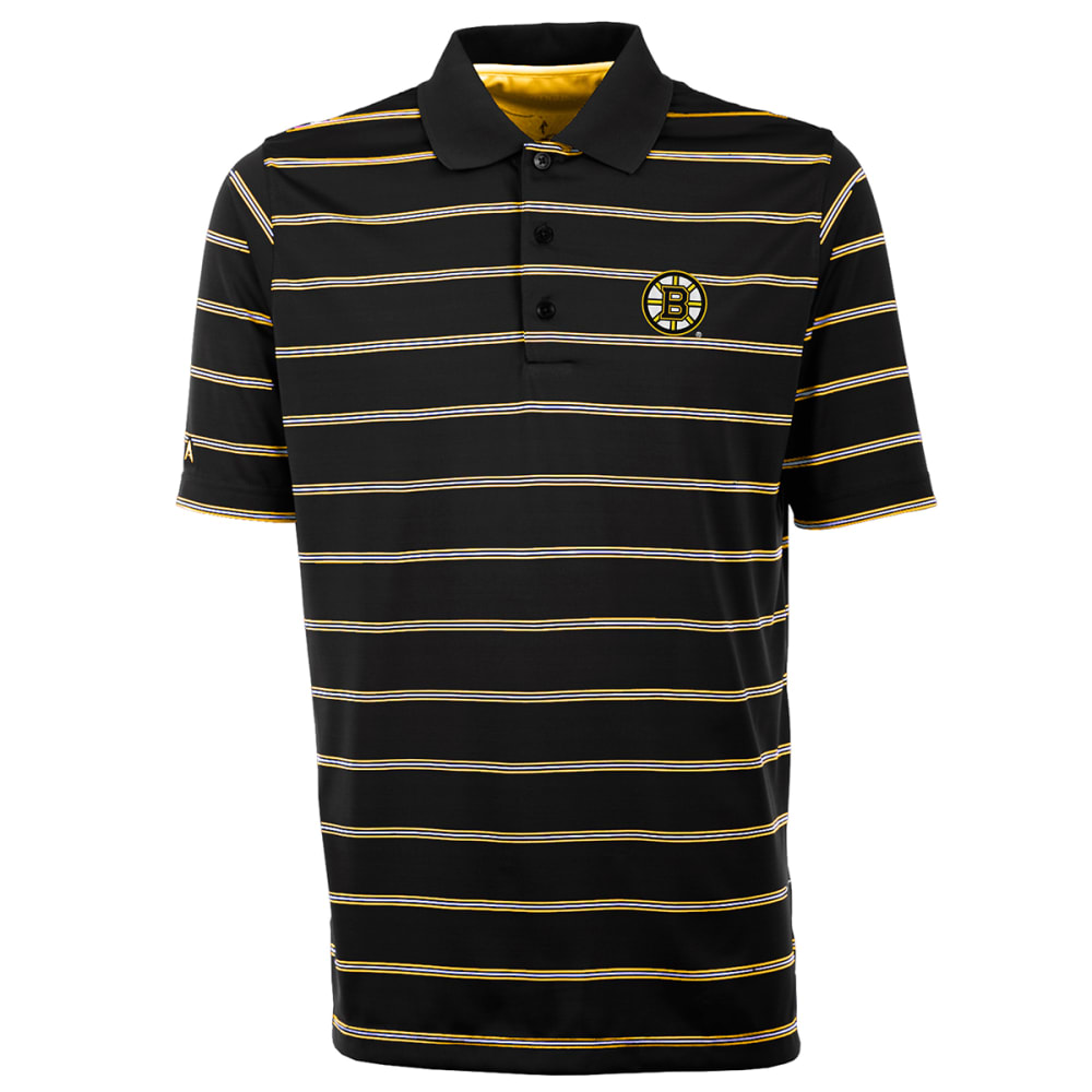 BOSTON BRUINS Men's Deluxe Stripe Polo - BRUINS BLK