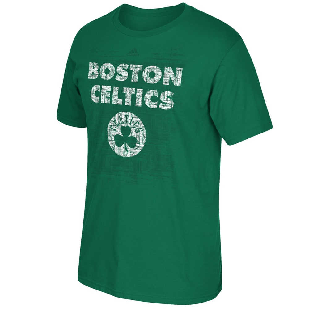 ADIDAS Men's Boston Celtics Parquet History Short-Sleeve Tee - GREEN