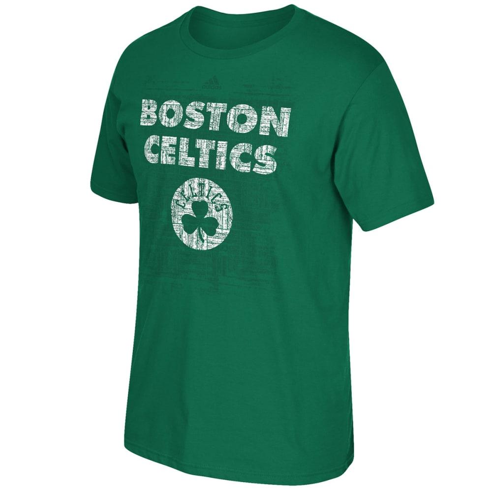 ADIDAS Men's Boston Celtics Parquet History Short-Sleeve Tee - GREEN