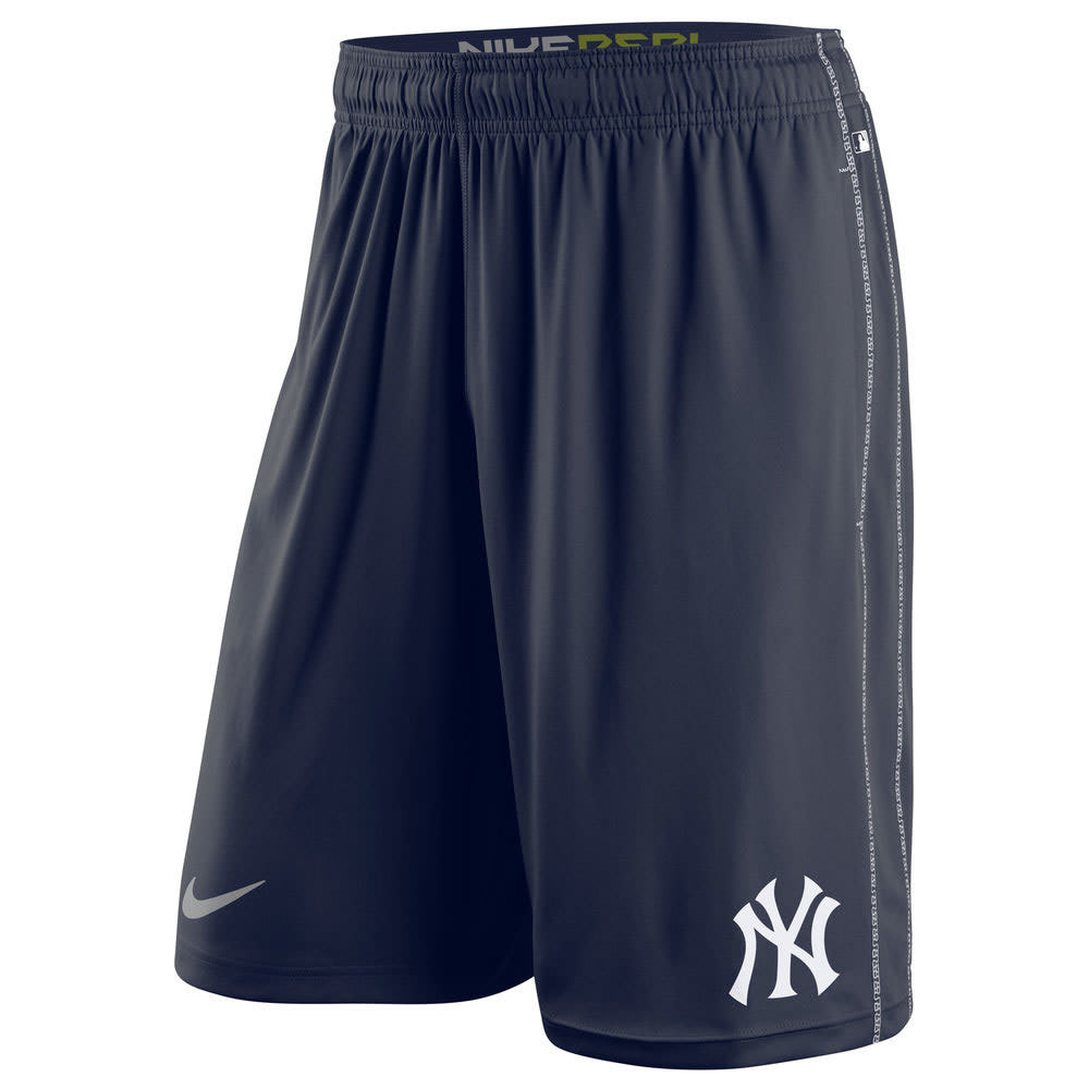 NIKE Men's 10 in. New York Yankees Dri-FIT Fly Shorts - NAVY